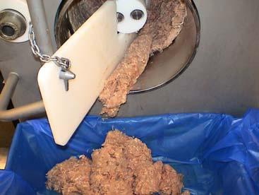 Separador mecánico de carne y hueso